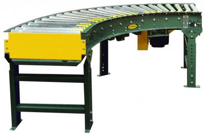 V-Belt Driven Curve Light Duty Accumulating Conveyor - 138-LRC